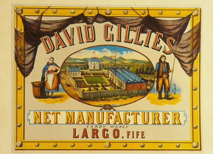 poster for Gillies of Largo, net manufacturer