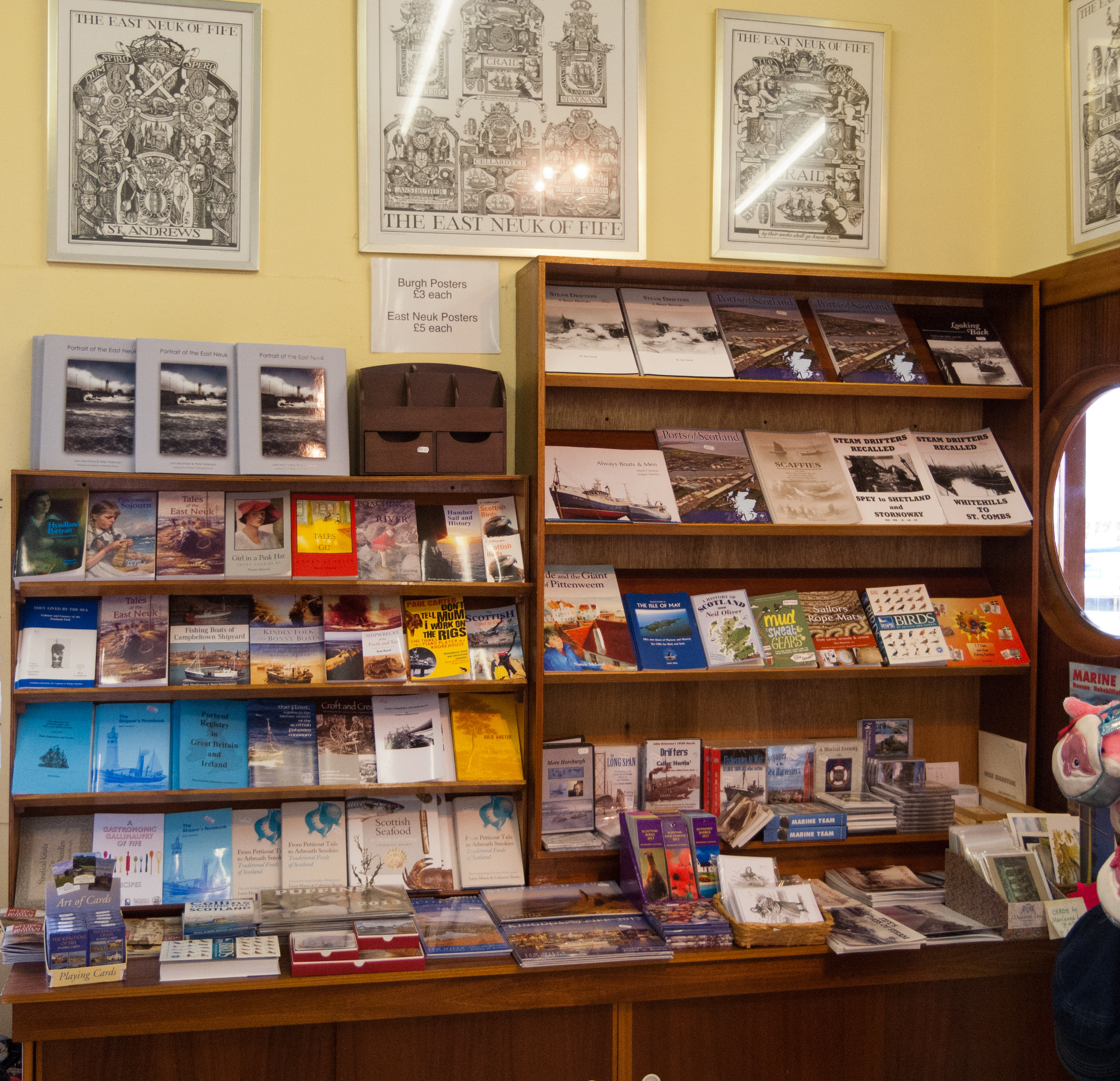 The book section of the Museum Shop