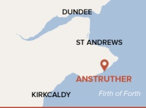 Map showing Anstruther