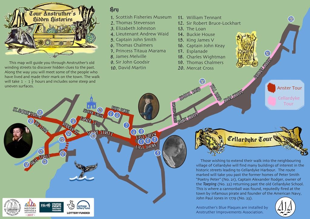 Anstruther Town Trail map