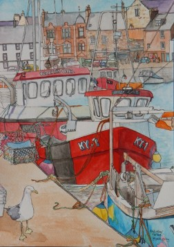 Anstruther Harbour By Y Kenny